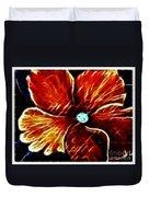 Fiery Violet Expressive Brushstrokes Duvet Cover