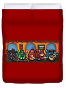 Fiesta Cats Or Gatos De Santa Fe Duvet Cover