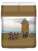 Fife And Drum Parade In Louisbourg Living History Museum-1744-ns Duvet Cover