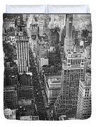 Fifth Avenue In New York City. Duvet Cover