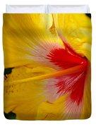 'fifth Dimension' Hibiscus Duvet Cover