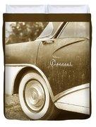 Fifties Buick Duvet Cover