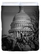 Fight In Washington Duvet Cover