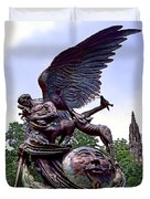 Fighting Angel Duvet Cover by Terry Reynoldson