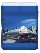 Fighting Falcon At Interpid Museum Duvet Cover