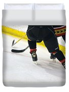 Fighting For The Puck Duvet Cover