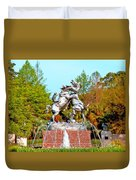 Fighting Stallions Duvet Cover