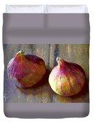 Figs Still Life Pop Art Duvet Cover
