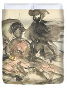 Figure Study Two Women Seated Duvet Cover