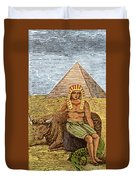 Figure Symbolizing Egyptian Duvet Cover by Getty Research Institute