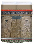 Figures Used To Teach Thai Massage In Wat Po In Bangkok-thailand Duvet Cover