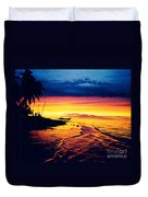 Fiji Paradise Sunset Duvet Cover