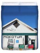 Filling Station, Mokotua, The Catlins Duvet Cover