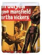 Film Noir Poster  The Burglar Jane Mansfield Duvet Cover