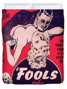 Film Poster Fools Of Desire 1930s Duvet Cover