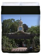Filoli Clock Tower Garden Shop Duvet Cover
