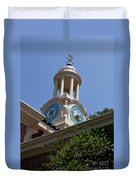Filoli Garden Clock Tower Duvet Cover