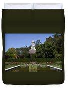 Filoli Garden With Pond Duvet Cover