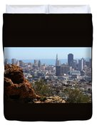 Financial District From Corona Heights Duvet Cover