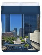 Financial District S. Flower Street Los Angeles Ca Duvet Cover by David Zanzinger