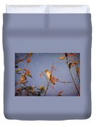Finch In A Cherry Tree Duvet Cover