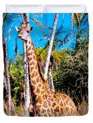 Find The Giraffe Duvet Cover