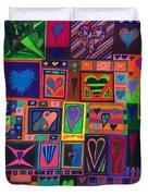 Find U'r Love Found Duvet Cover