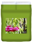Fine Feathered Hummingbird Duvet Cover