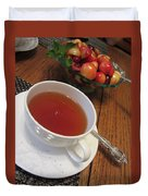 Fine Tea And Cherries Duvet Cover