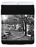 Finger Lakes Camping Duvet Cover