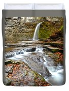 Finger Lakes Waterfall Duvet Cover