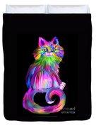 Finger Painted Cat Duvet Cover