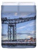 Finnieston Crane Glasgow Duvet Cover