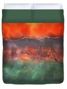 Fire And Ice Misty Morning Duvet Cover