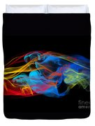 Fire And Ice Smoke  Duvet Cover