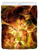 Fire And Shadow Duvet Cover