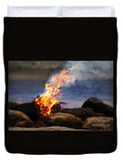 Fire And Smoke Duvet Cover
