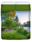 Fire And Water At Cottonwood Cottage Duvet Cover