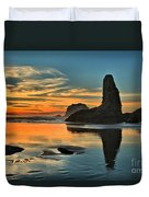 Fire At Low Tide Duvet Cover