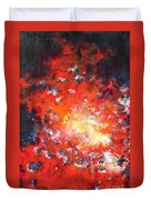 Fire Blazing In The Sky Duvet Cover