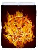 Fire Burning Flaming Skull Duvet Cover