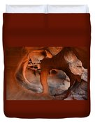Fire Cave Windstone Arch Nevada Duvet Cover
