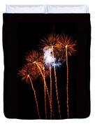 Fire Dandelion Bouquet Duvet Cover
