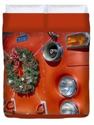 Fire Department Christmas 2 Duvet Cover