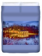 Fire Department Rescue Building On Water Duvet Cover