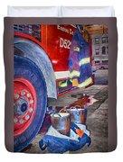Fire Engine - Firemen - Equipment Duvet Cover