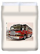 Fire Engine Red Duvet Cover