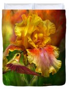 Fire Goddess Duvet Cover by Carol Cavalaris