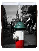 Fire Hydrant From Little Italy Duvet Cover