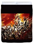 Fire In The Corn Field Duvet Cover